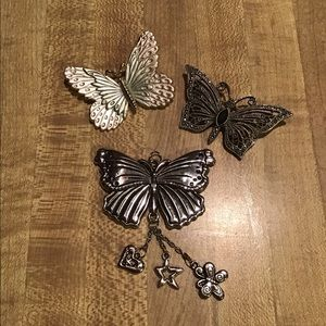 Vintage Butterfly Jewelry including Luca Razza